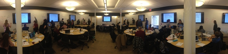 Panoramic Shot of Cell Biology Classroom